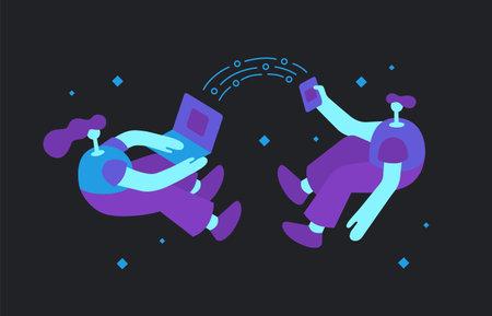 Cross Platform Concept Flat Illustration Иллюстрация