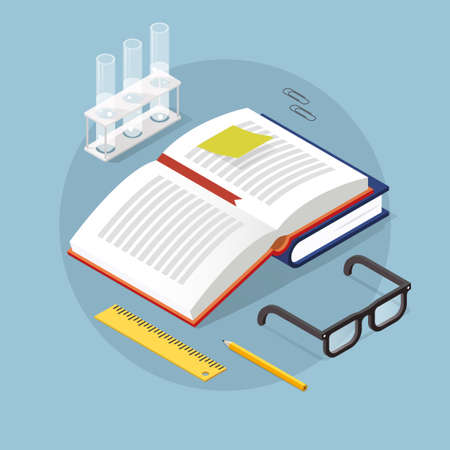 Isometric Learning Concept Illustration