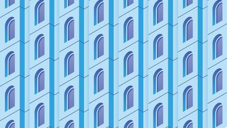 Isometric Building Facade Illustration Иллюстрация