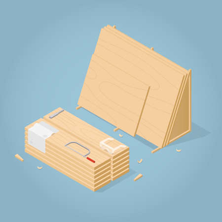 Isometric Lamber Storage Illustration