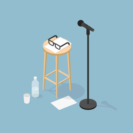 Performance Microphone Isometric Illustration