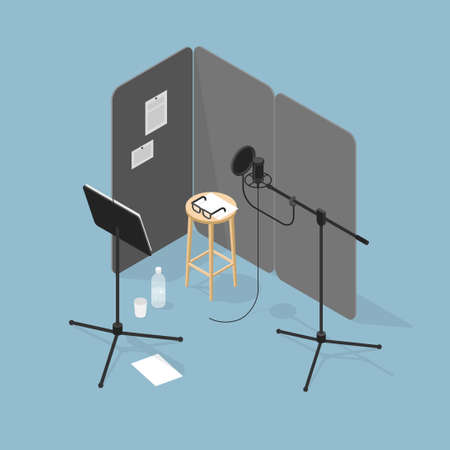 Sound Production Recording Studio Illustration