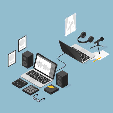 Sound Production Outsourcing Illustration