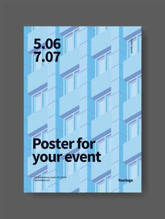 City Event Modern Poster 向量圖像