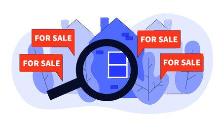 Real Estate Concept Illustration 矢量图像