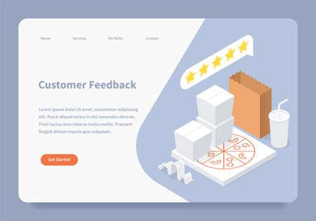 Customer Feedback Landing Page Concept
