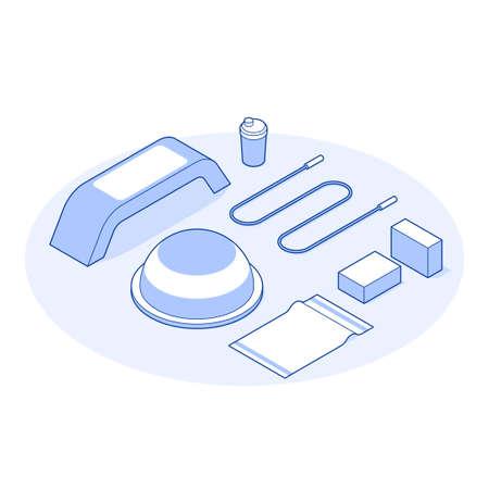 Isometric Gym Vector Illustration