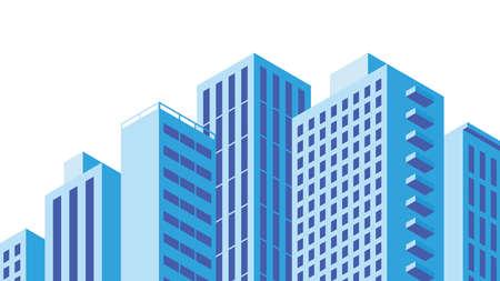 City Buildings Facades Illustration