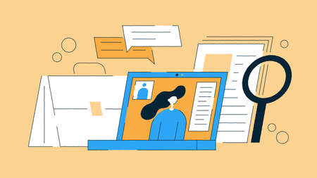 Job Recruiting Flat Illustration 矢量图像