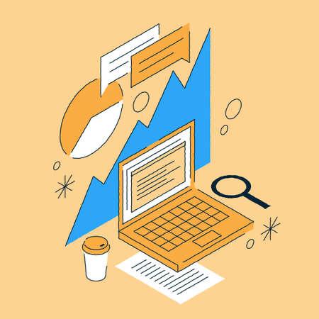 Business Analytics Isometric Illustration