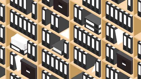 Isometric Storage Concept Illustration