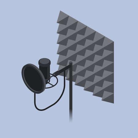 Voice Recording Equipment Isometric Illustration