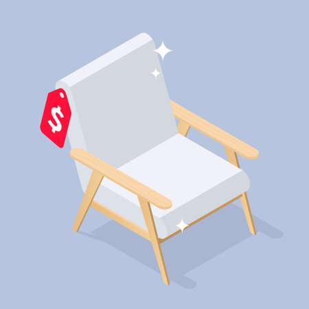 New Comfortable Chair Isometric Illustration