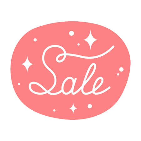 Sale Hand Drawn Lettering Banner In Bubble Vector 矢量图像
