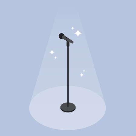 Performance Microphone Isometric Illustration