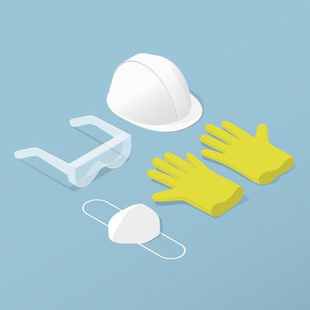 Protective Workwear Costume Isometric Illustration