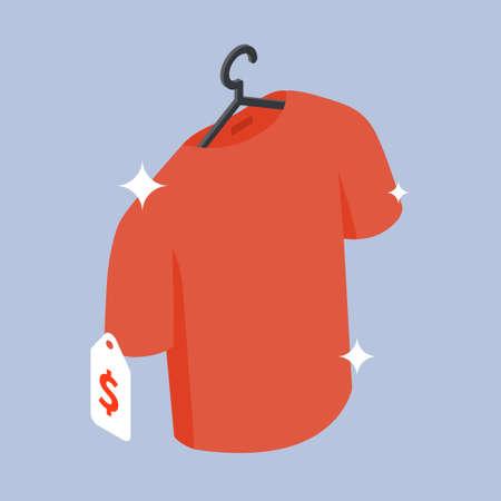 Buying New Clothes Sale Isometric Illustration