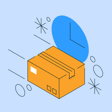 Fast Delivery Order Service Isometric Illustration