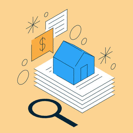 Real Estate Document Deal Isometric Illustration