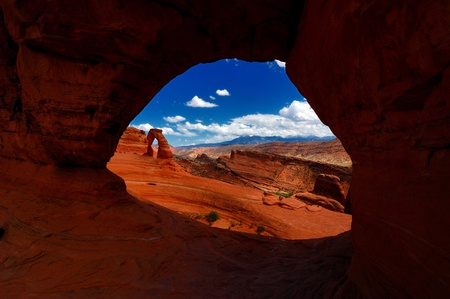 Delicate Arch view at Arches National Park, Utah photo