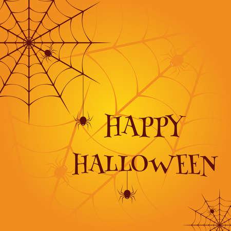 Happy Halloween Vector illustration template Vector Illustratie