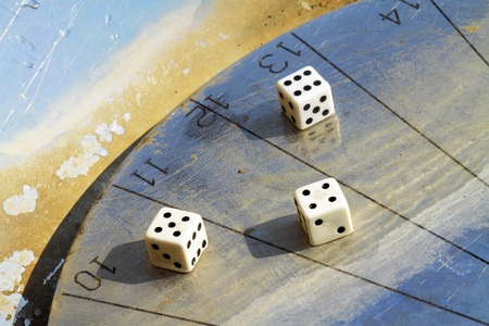sundial dice game that symbolizes the time when we play photo