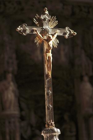 viacrucis: religious objects of Holy Week in zaragoza