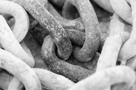 rigidity: chains showing their strength and express safety and rigidity of the metal