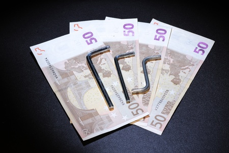 brought about by the economic crisis and the need to be careful with money photo