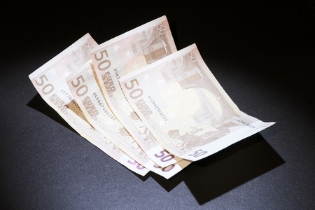 be careful: brought about by the economic crisis and the need to be careful with money Stock Photo
