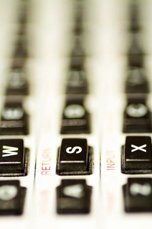 Typical objects of engineering desk calculator scaler Stock Photo - 13396402