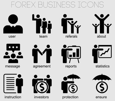 Icons for business and forex applications Reklamní fotografie - 80342720