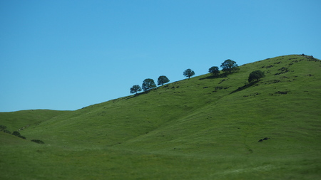 Mountain Hill with blue sky Stok Fotoğraf