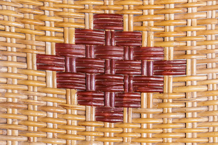 webbing: old woven rattan with natural pattern Stock Photo