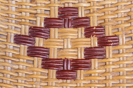 old woven rattan with natural pattern Stock Photo