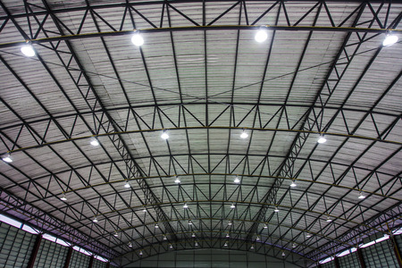 metal sheet roof of indoor stadium 免版税图像 - 34280859