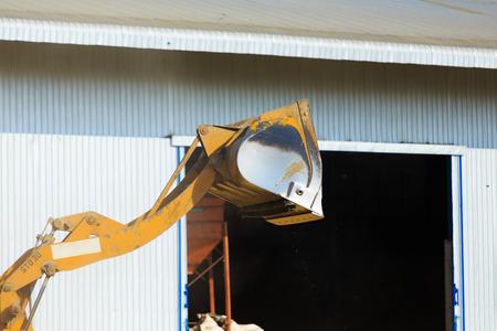 front end loader: Front End Loader of bulldozer Stock Photo