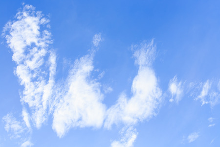 ozone: Clouds in blue sky background Stock Photo