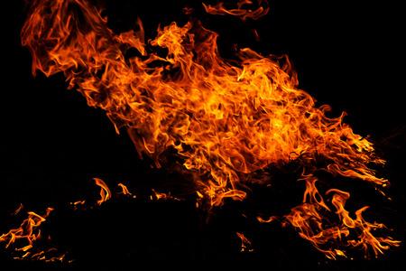guy fawkes night: Fuoco fiamme astratte su sfondo nero Archivio Fotografico