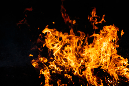 guy fawkes night: Fire flames abstract on black background Stock Photo