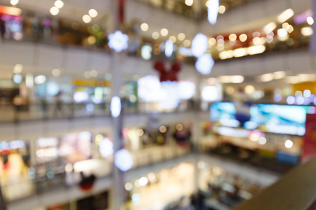 department store: Blurred department store new year festival