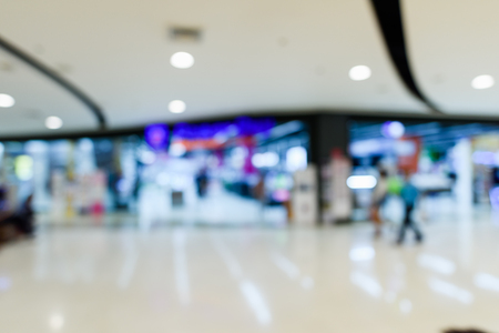shopping mall abstract defocused blurred background