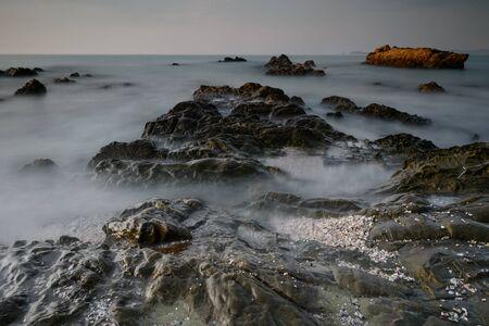 Beautiful rocky sea beach, Thailand