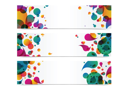 bstract: bstract colorful banner header background frame vector