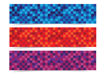 abstracts: abstracts mosaic banner header background vector for web Illustration