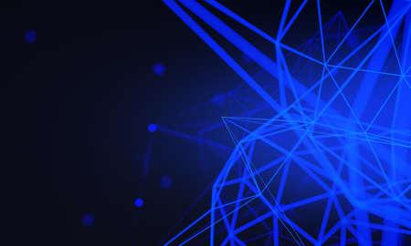 network social online, background 3d illustration rendering, machine deep learning, data cloud storage digital Stock Photo