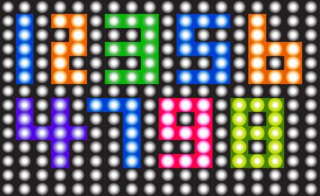 digital numbers: number set,digital numbers