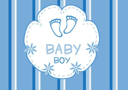 footmark: Baby boy shower cardbaby shower cardvectors