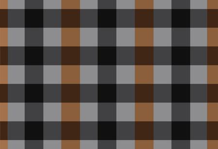 english textures: Vector seamless black and brown tartan tartan pattern