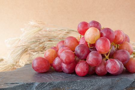 nature backgrounds: red grapes with nature backgrounds